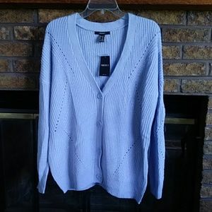 NWT forever 21 loose blue cardigan